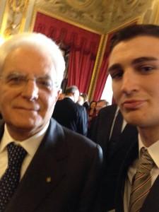 Presid.MATTARELLA con G.CASELLA  2016