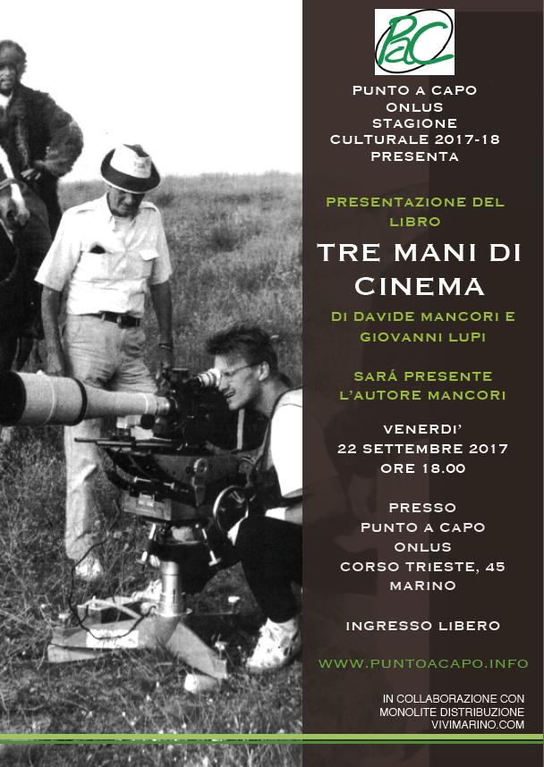 Marino, Davide Mancori il 22 settembre presenta il suo libro sul cinema