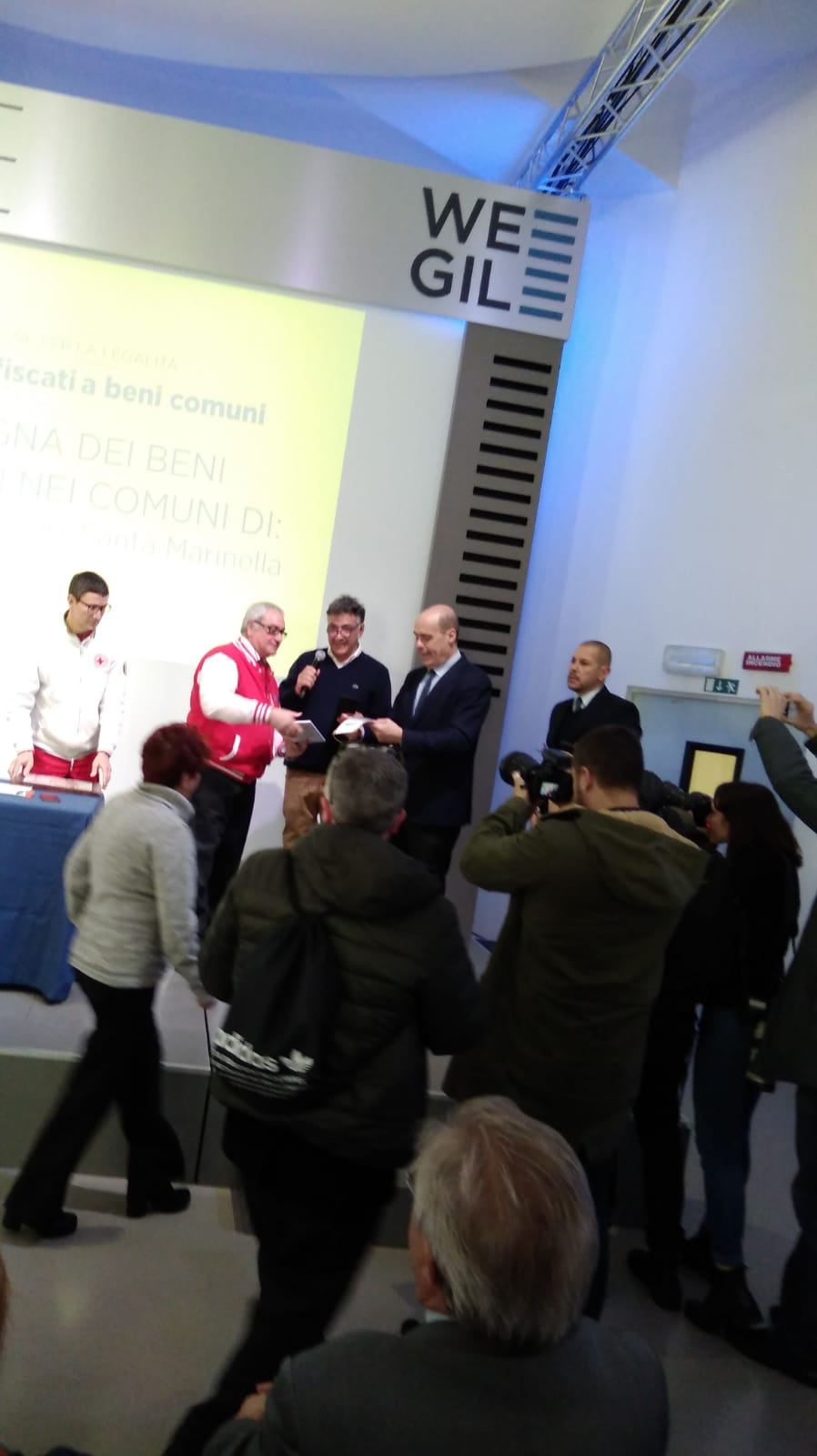 L'Avis di Marino ha ricevuto stamattina le chiavi dei nuovi locali di Santa Maria delle Mole dal Governatore Zingaretti in una cerimonia ufficiale al WeGil di Roma