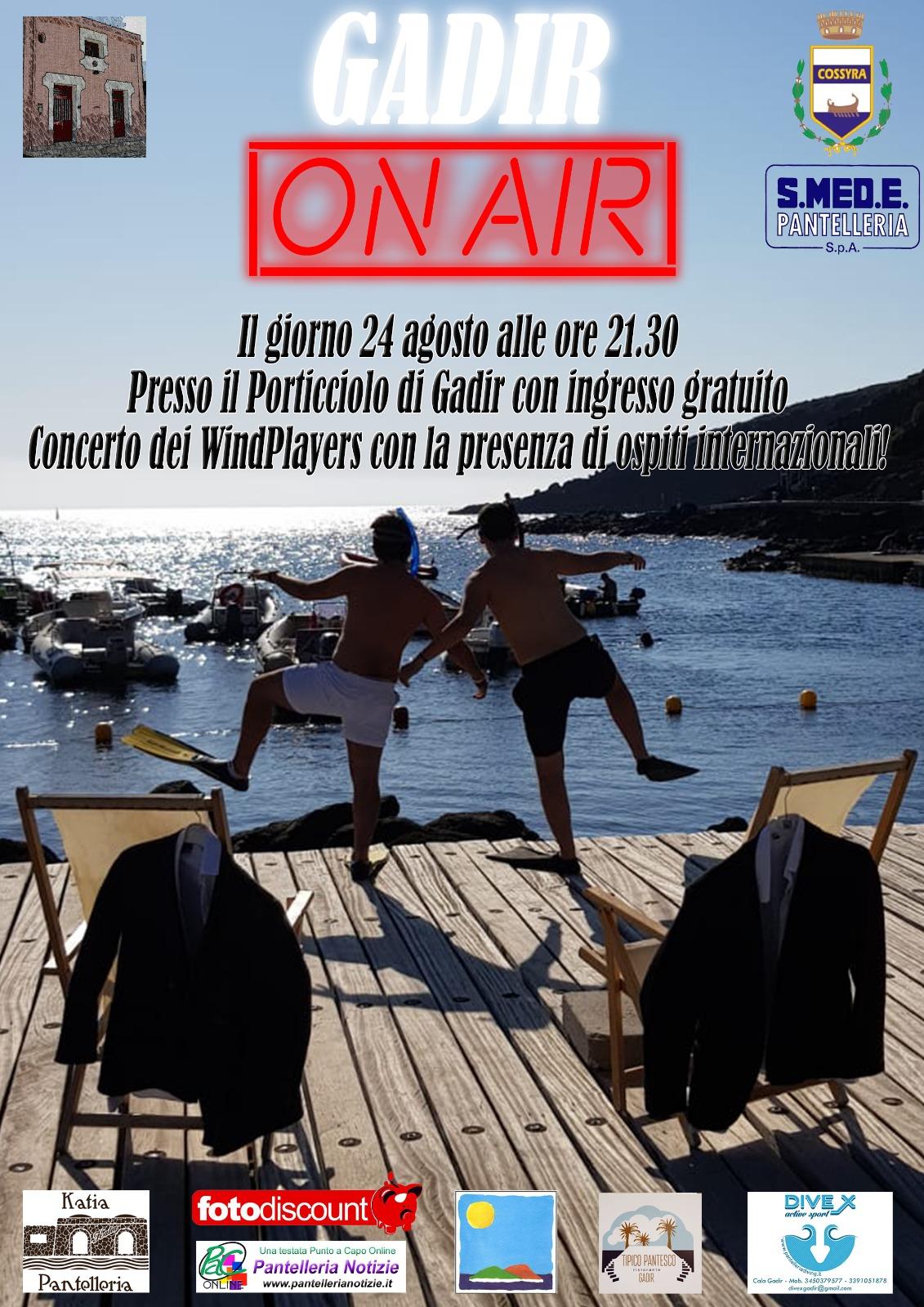 Pantelleria, il 24 agosto il nuovo spettacolo Gadir On Air con musica, teatro e impegno sociale portato sul palco dai giovani panteschi con il Patrocinio del Comune