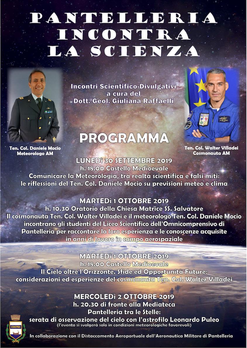 Pantelleria incontra la Scienza dal 30 settembre al 2 ottobre
