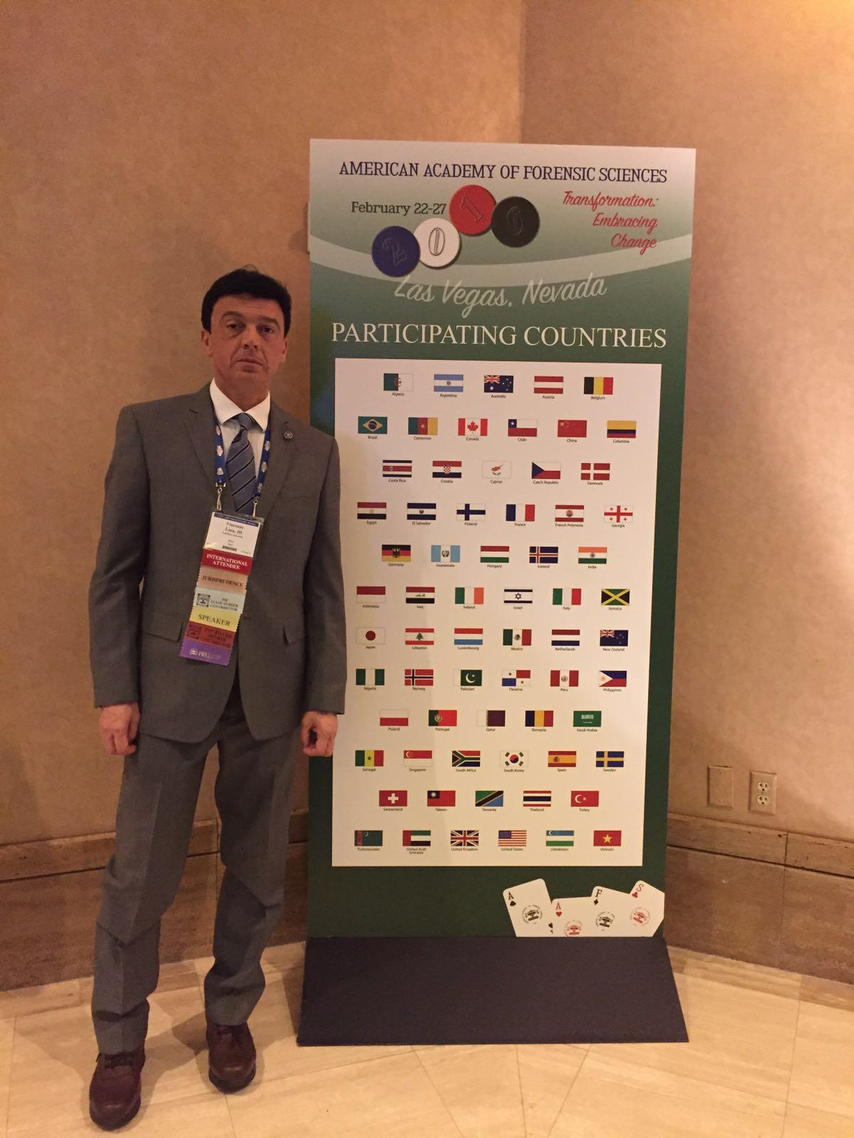 Scienza: Vincenzo Lusa primo Fellow italiano per la giurisprudenza dell'American Academy of Forensic Sciences