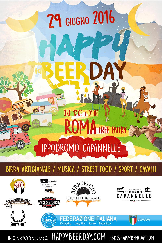 A ROMA IL 29 GIUGNO: HAPPY BEER DAY a Capannelle!