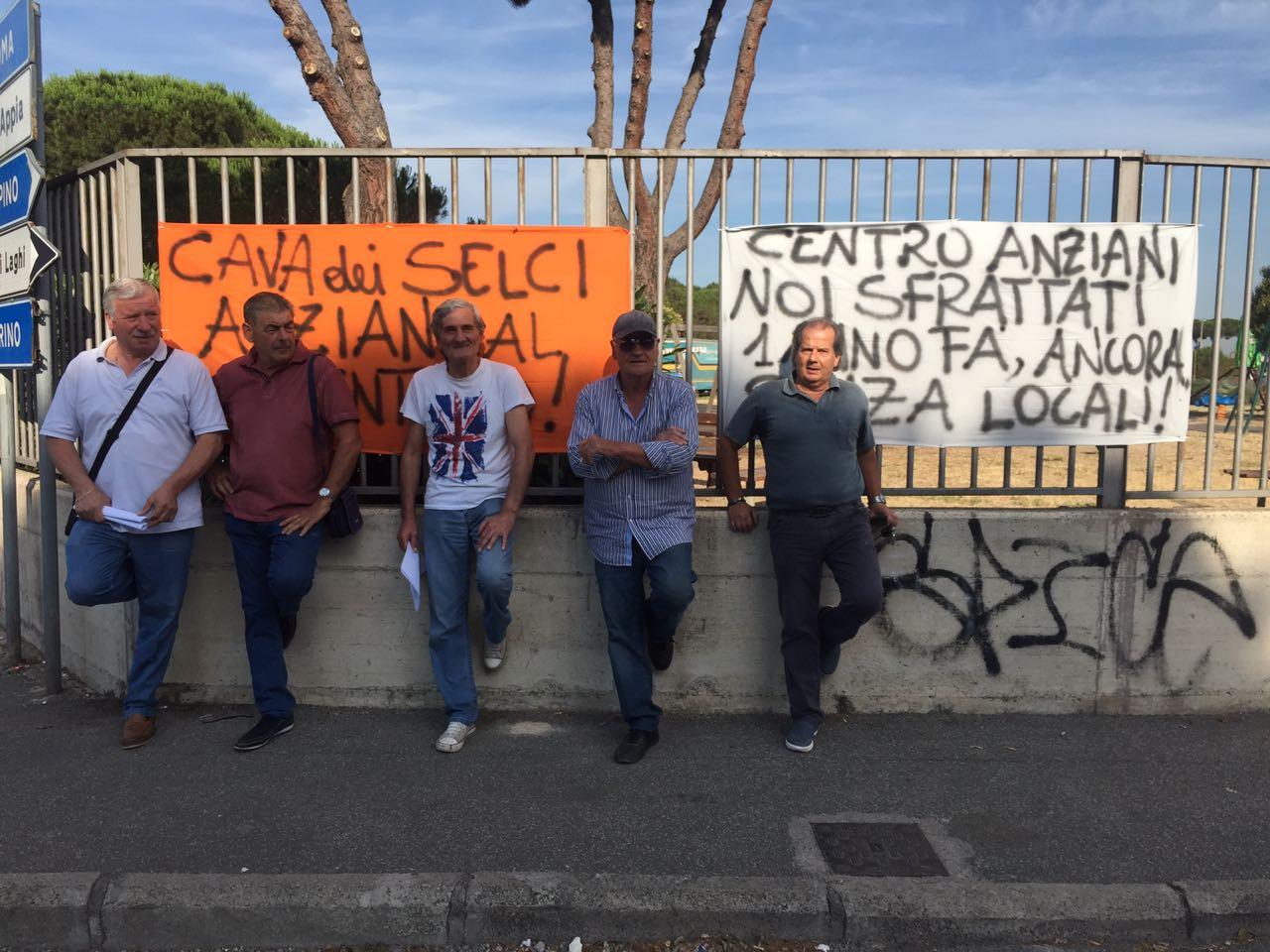 Marino, Centro Anziani Cava dei Selci: noi sfrattati 1 anno fa, ancora senza locali!