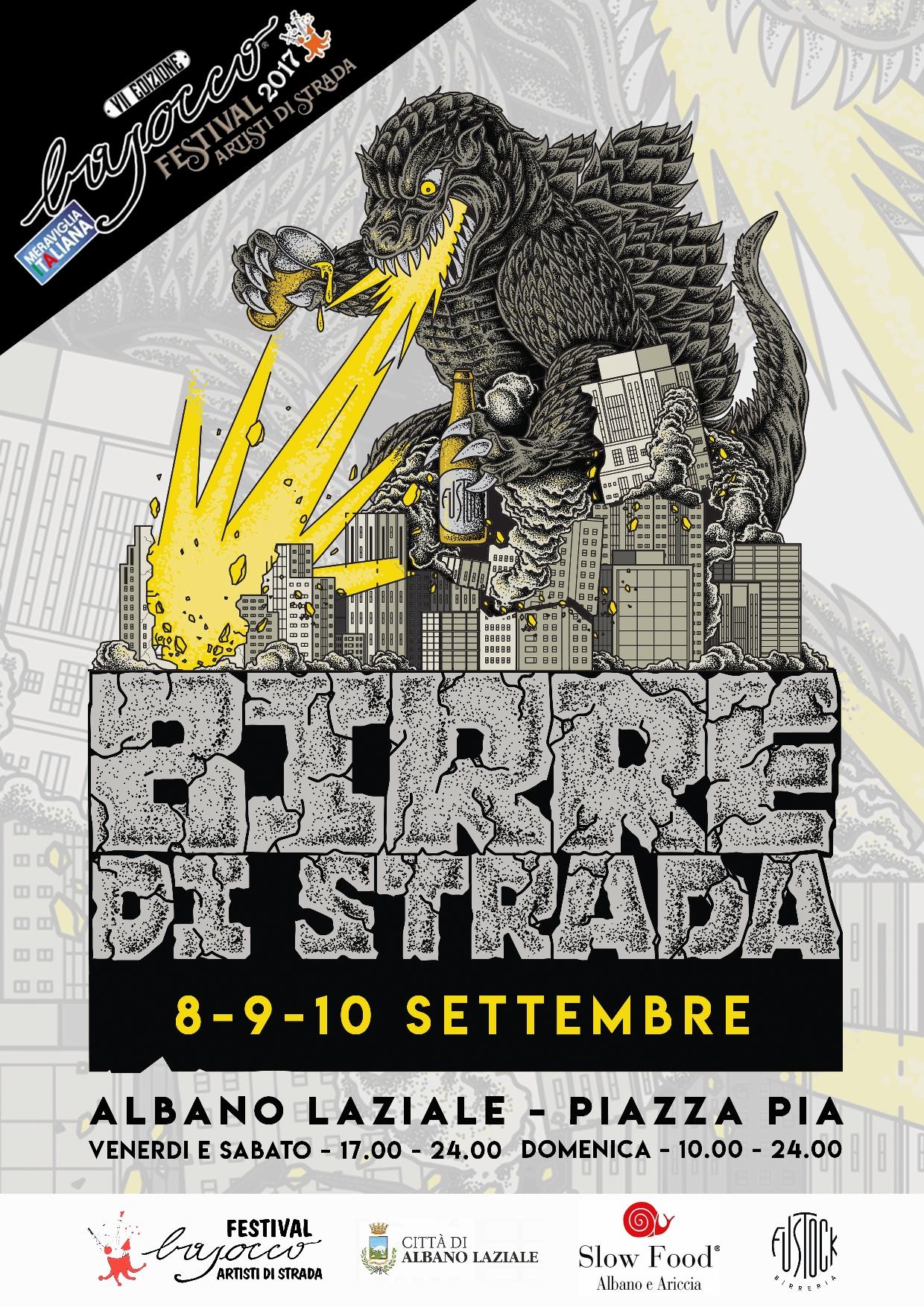 Birre di strada al Bajocco Festival. La rivoluzione del cibo e delle birre artigianali.  Albano Laziale 8-9-10 settembre 2017