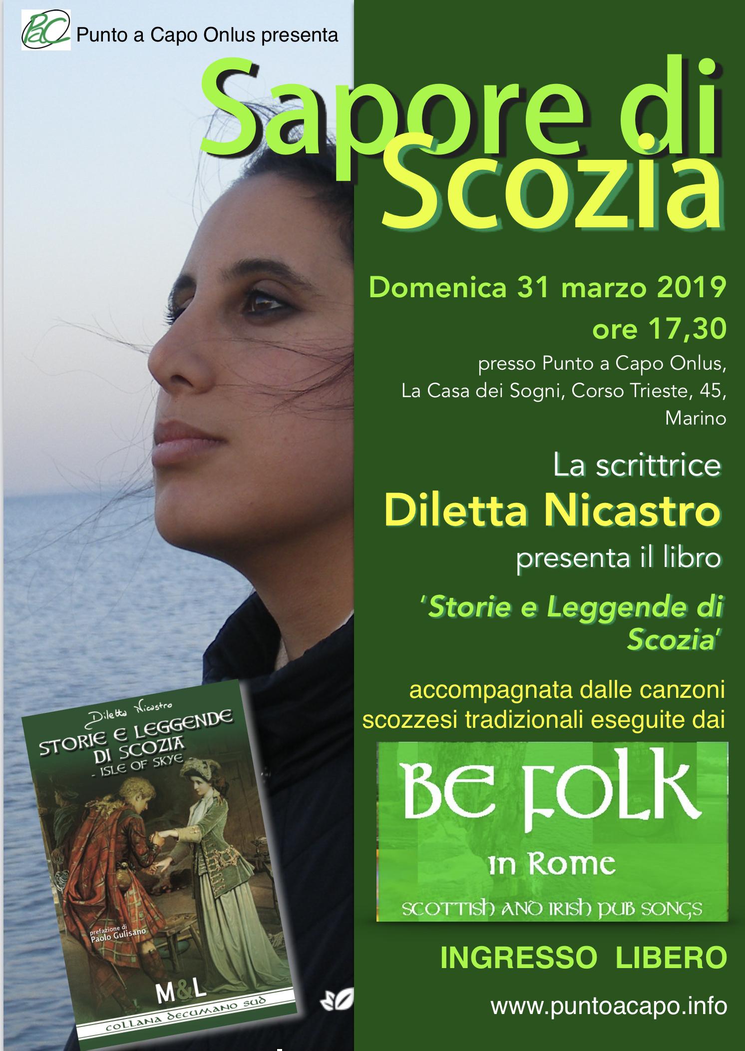 Diletta Nicastro a 'Sapore di Scozia'  con 'Storie e leggende di Scozia – Isle of Skye'